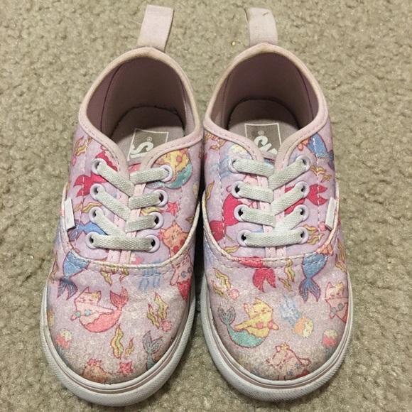 Vans Shoes | Vans Mermaid Cat Slip Ons